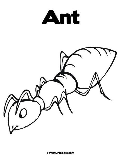 Ant Coloring Page Letter of the week Pinterest School