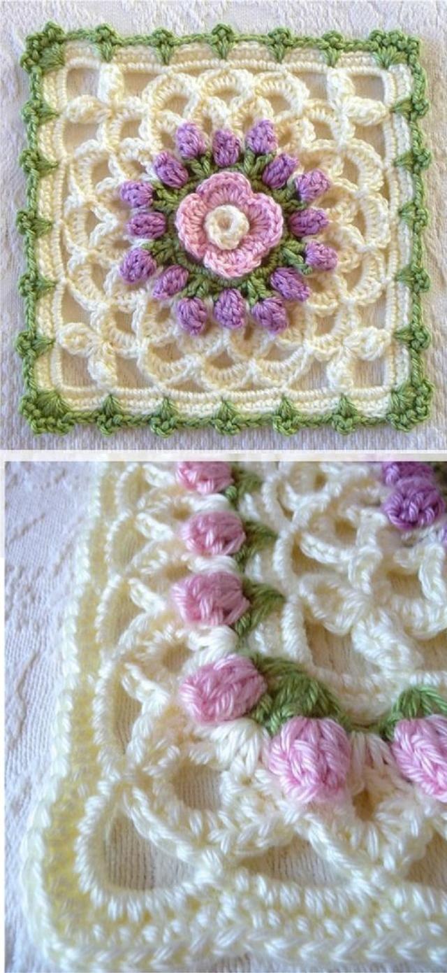 Diversas amostras de crochê para fazer apliques 3c26bf979b2
