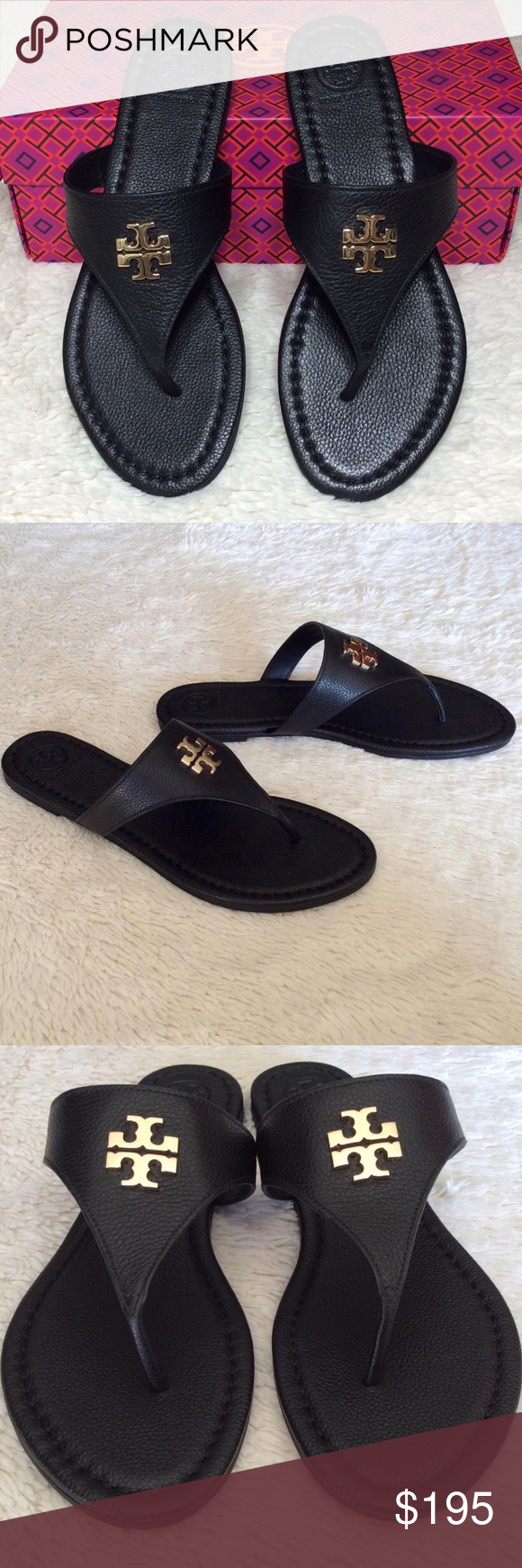 346607d862c NEW TORY BURCH LAURA THONG SANDALS TUMBLED LEATHER Authentic. Brand new  with tags.
