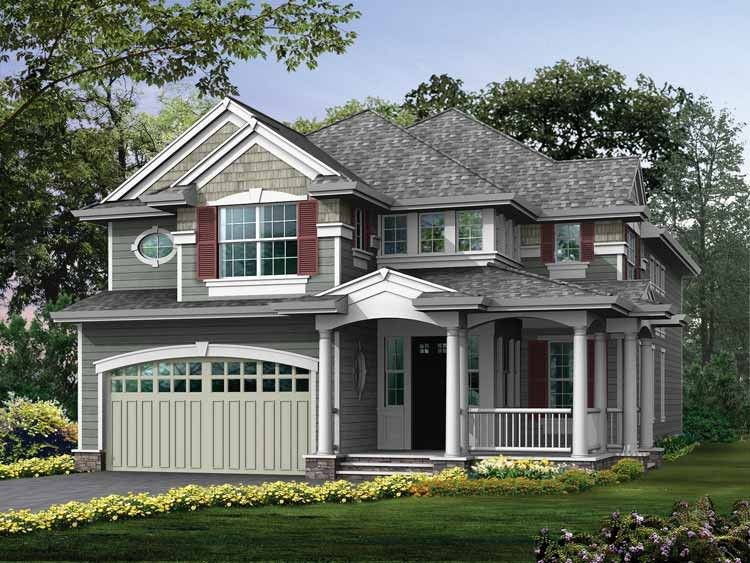 Eplans Craftsman House Plan Compact Footprint With Extreme Curb Appeal 3040 Square Feet Narrow Lot House Plans Craftsman House Craftsman Style House Plans