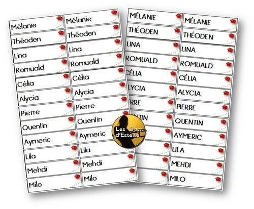 Etiquettes Prenoms Ps Ms Ps Ou Ms Etiquette Prenom Etiquette