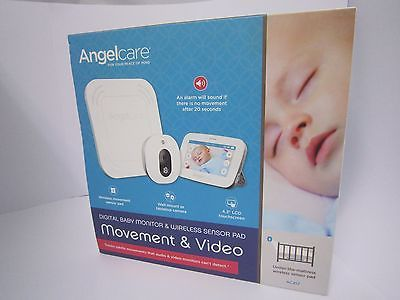 Angelcare Ac417 Baby Movement Video 4 3 Touchscreen Wireless Rrp 250 Brand New Wireless Baby Monitor Video Monitor Baby Baby Movement Monitor