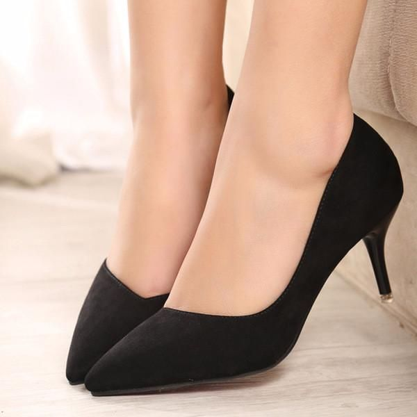 Stylish simple suede casual work low