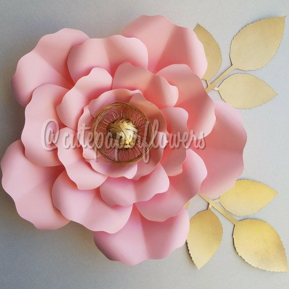 No 7 Instant Download Pdf Paper Flowers Template Paper Flower Diy