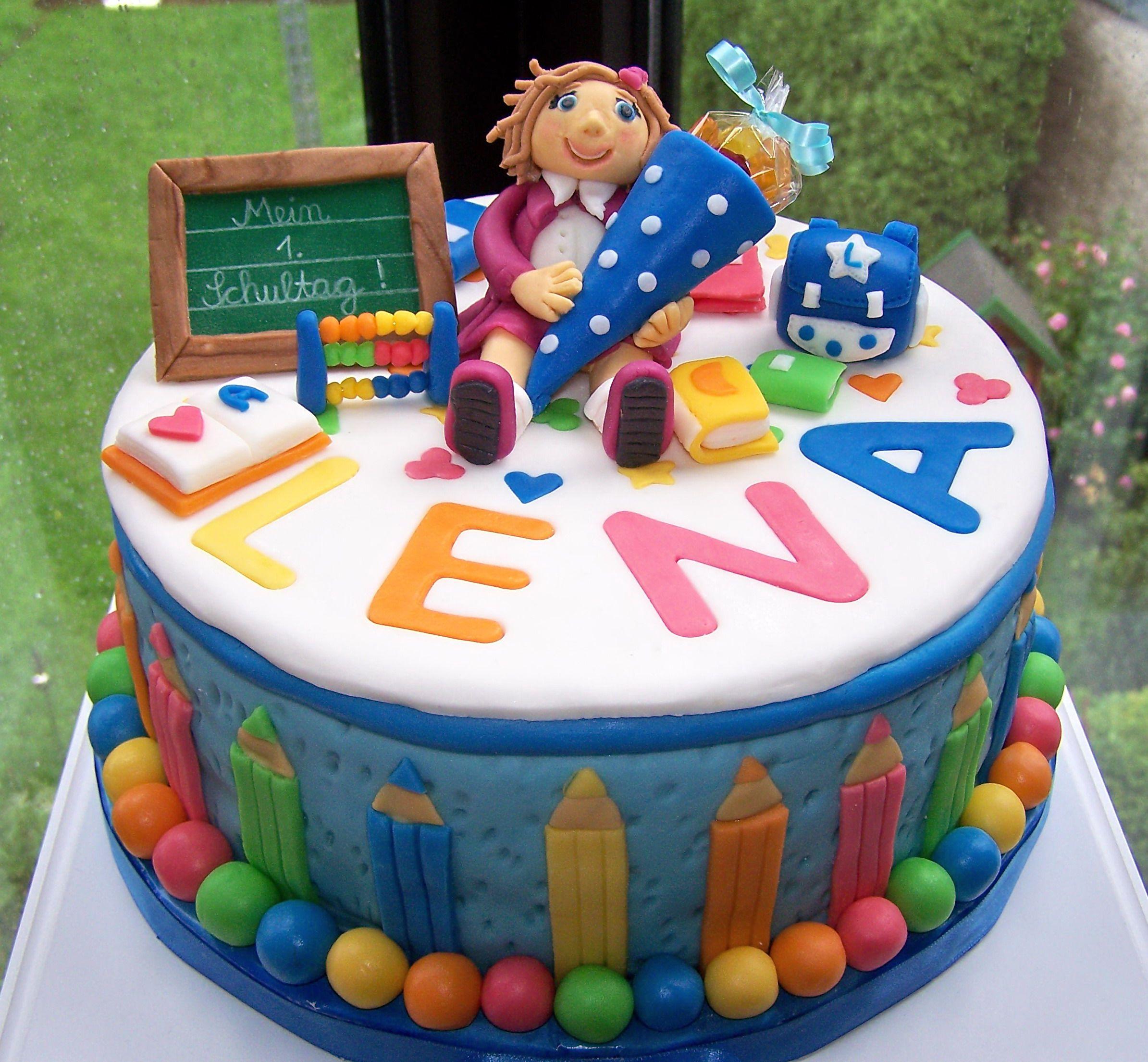 Pin Von Ulrike Zech Auf Schultute Torte Einschulung Kuchen Einschulung Geburtstagskuchen Kinder