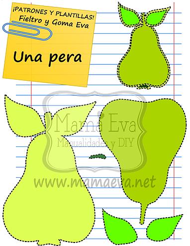 Plantillas de alimentos y bebidas de goma eva y fieltro - Plantillas goma eva ...