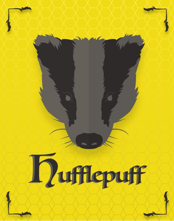 Hufflepuff Poster - Hufflepuff Print - Harry Potter Poster - Harry ...