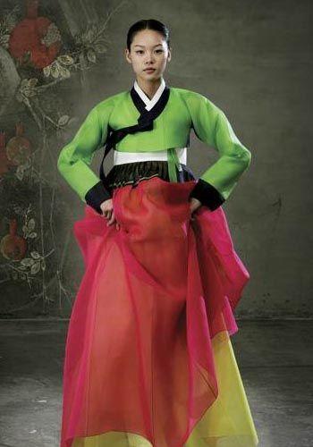 Red and Green Hanbok | Hanbok | Pinterest