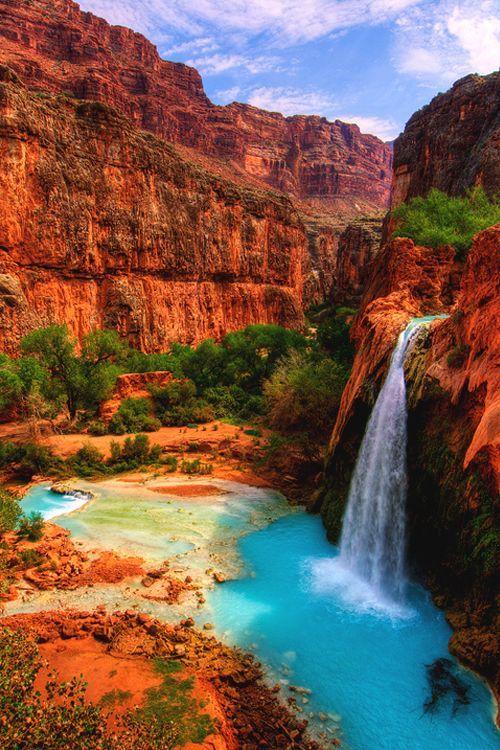 "italian-luxury: ""Havasu Falls in the Havasupai Indian ..."