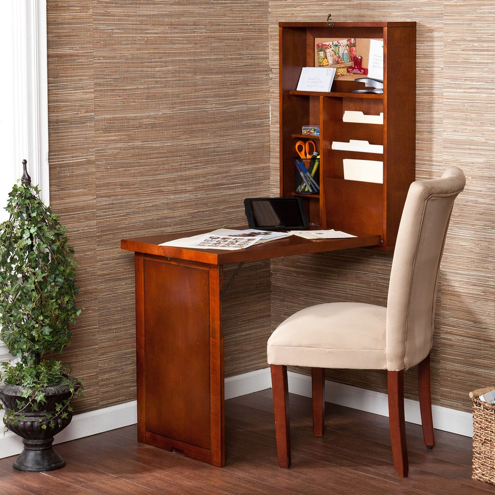Murphy Walnut Fold Out Convertible Desk