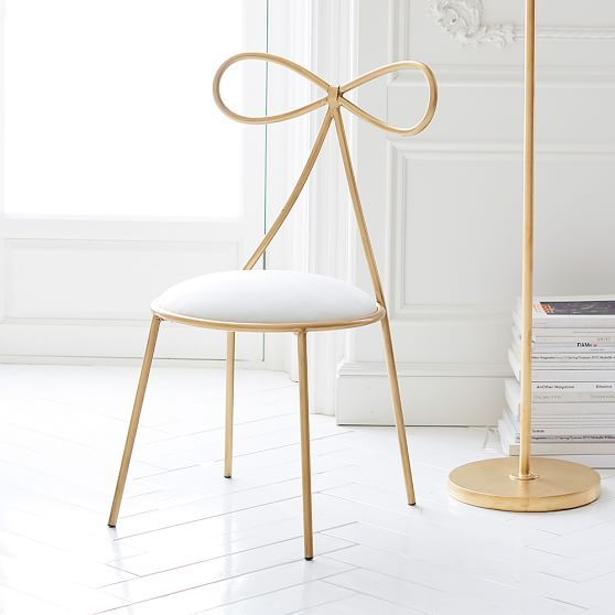 The Emily & Meritt Bow Chair - OMG have you ever seen something THIS darling???!!! #obsessed am I right, @kamilak8 ?
