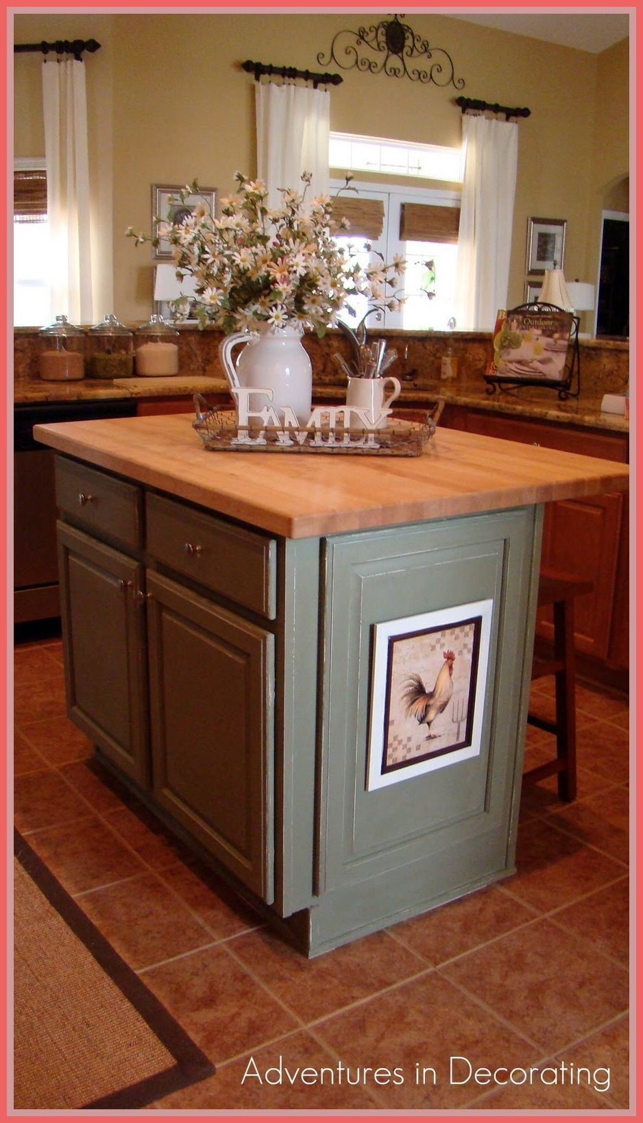 how to decorate a kitchen island bench