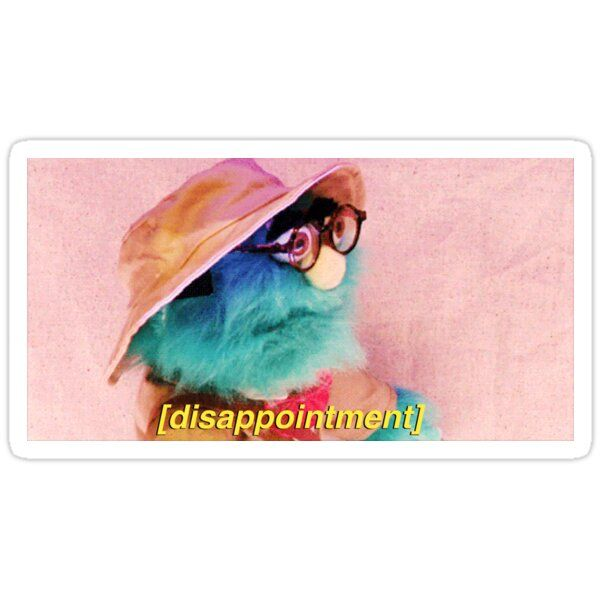 The Professors Disappointment Face Sticker By Jocy Pink In 2021 Buzzfeed Funny Frowny Face Face