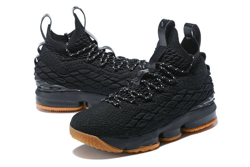 d82e64dd48f Cheap Priced Nike Lebron XV EP 15 Coal Black Gum Light Brown James Mens  Basketball Shoes