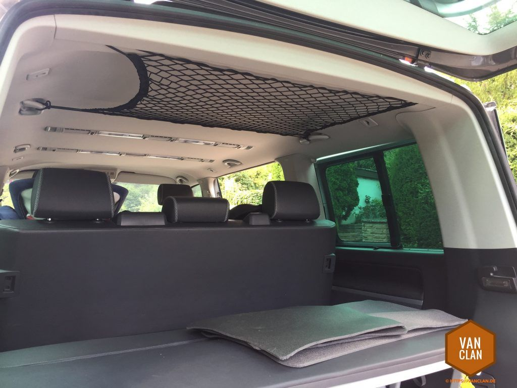 Photo of Ikea hacks for bus drivers – number 4: create additional storage space in the VW T5 Multivan with a roof net | | vanclan.de