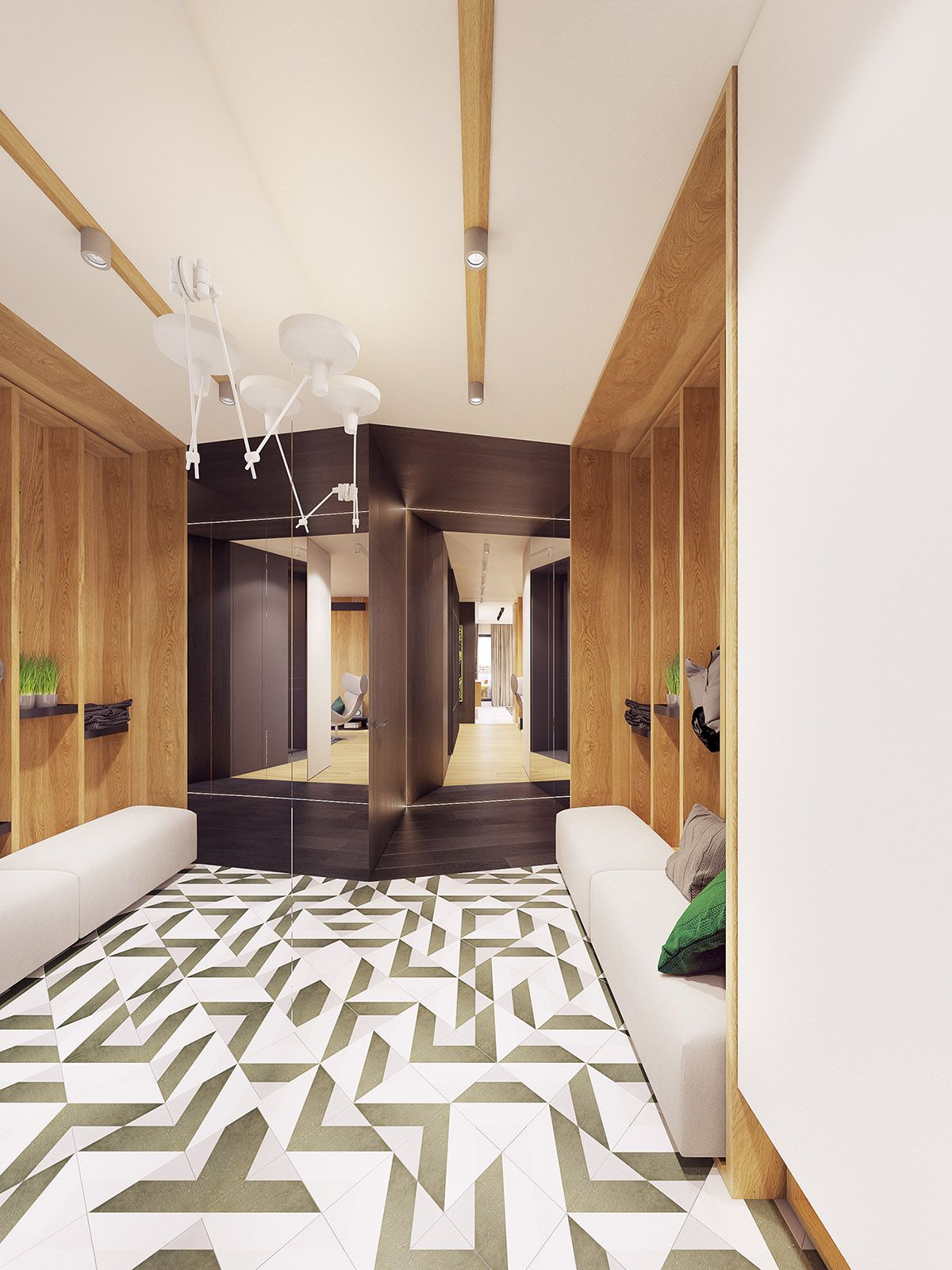 Feature Rich Decor In Family Friendly Apartment Lighting Ideas