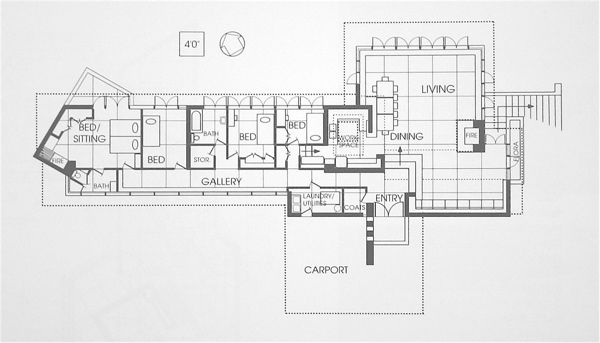 Floor Plan Carroll Alsop House Aka Mitchell House