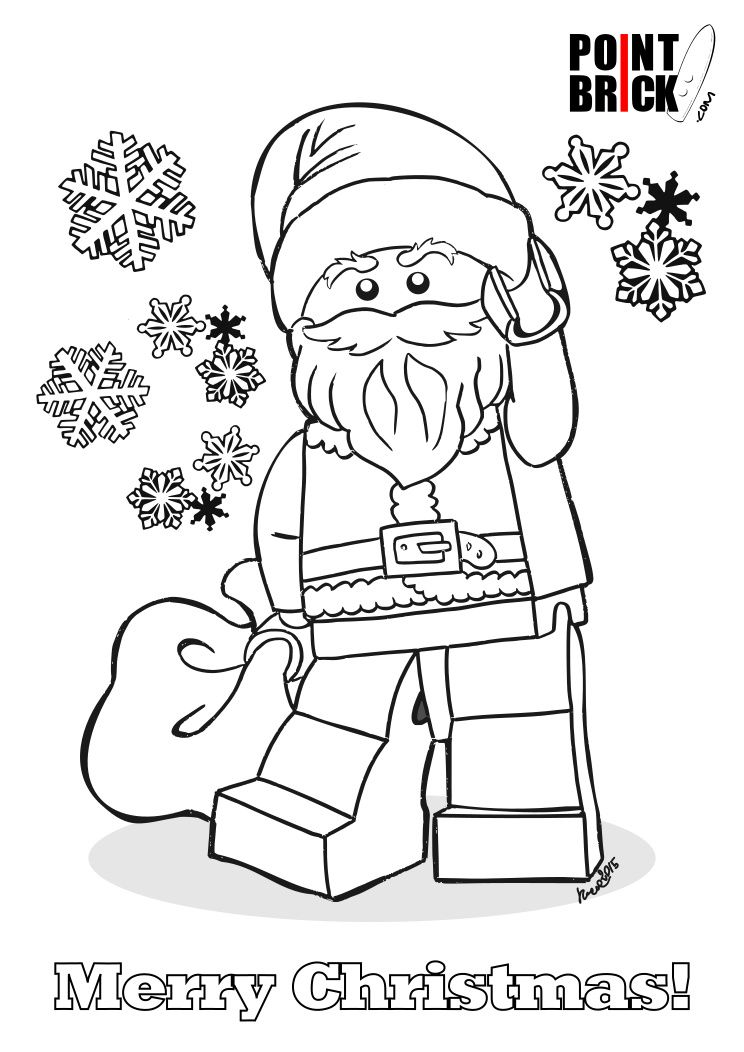 printable lego christmas coloring pages - photo#5