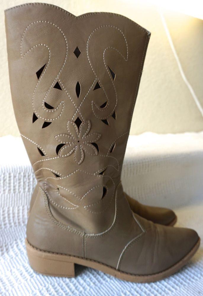 Zip Up Cowboy Boots
