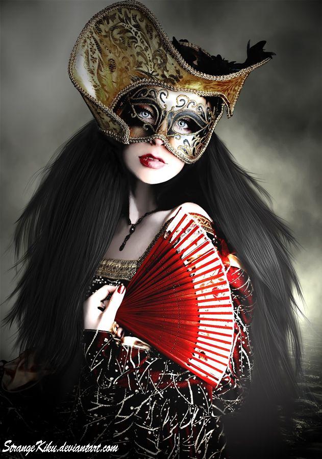 005afa55b80e Masked Spanish maiden... La Masquerade photography digital art by  StrangeKiku. #Masquerade_ball #Venetian #Mardi_gras #Costume #Carnival
