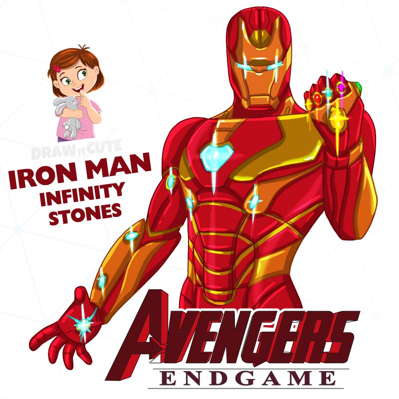 How To Draw Iron Man With The Infinity Stones By Drawitcute On Deviantart Iron Man Iron Man Drawing Drawing Superheroes