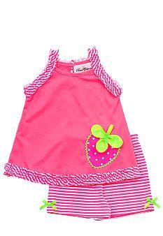 Rare Editions Neon Strawberry Short Set Toddler Girls