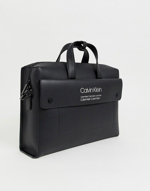 70a65f82c9 Calvin Klein Bolt laptop bag in black in 2019