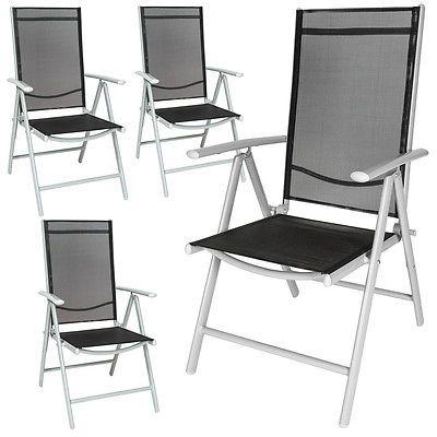 4er Set Alu Klappstuhl Gartenstuhl Aluminium Campingstuhl