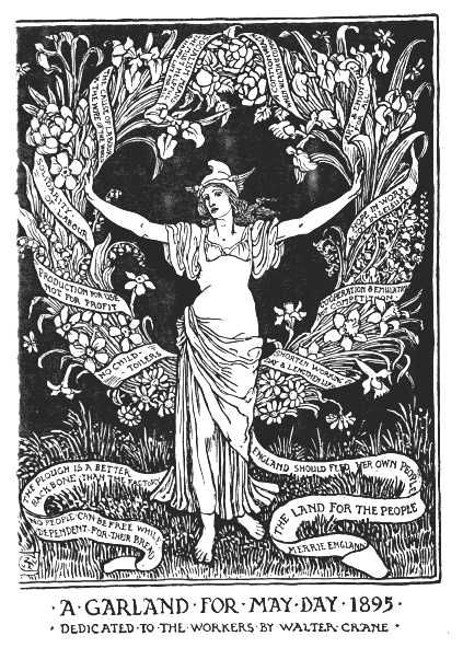 A Garland For May Day by Walter Crane, Published 1895