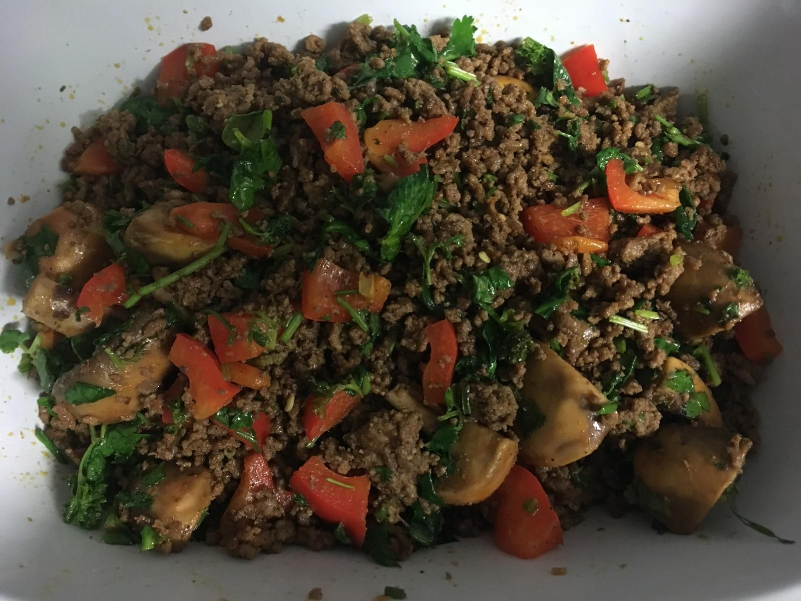Lamb Mince With Baby Spinach Stuffed Peppers Baby Spinach Spinach