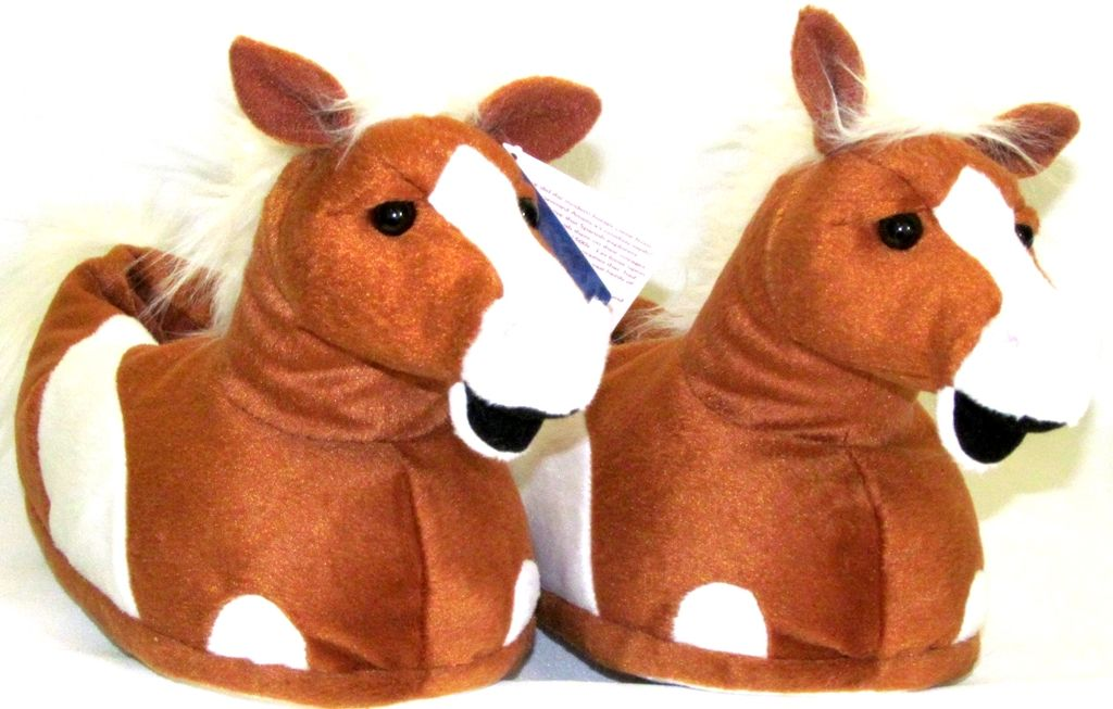 Horse Slippers for Girls and Women - Plush Horse Head Slippers ... 025689903fee