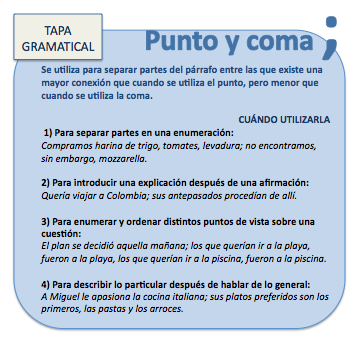 PUNTO Y COMA (;) Learn Spanish / Spanish vocabulary / Spanish grammar
