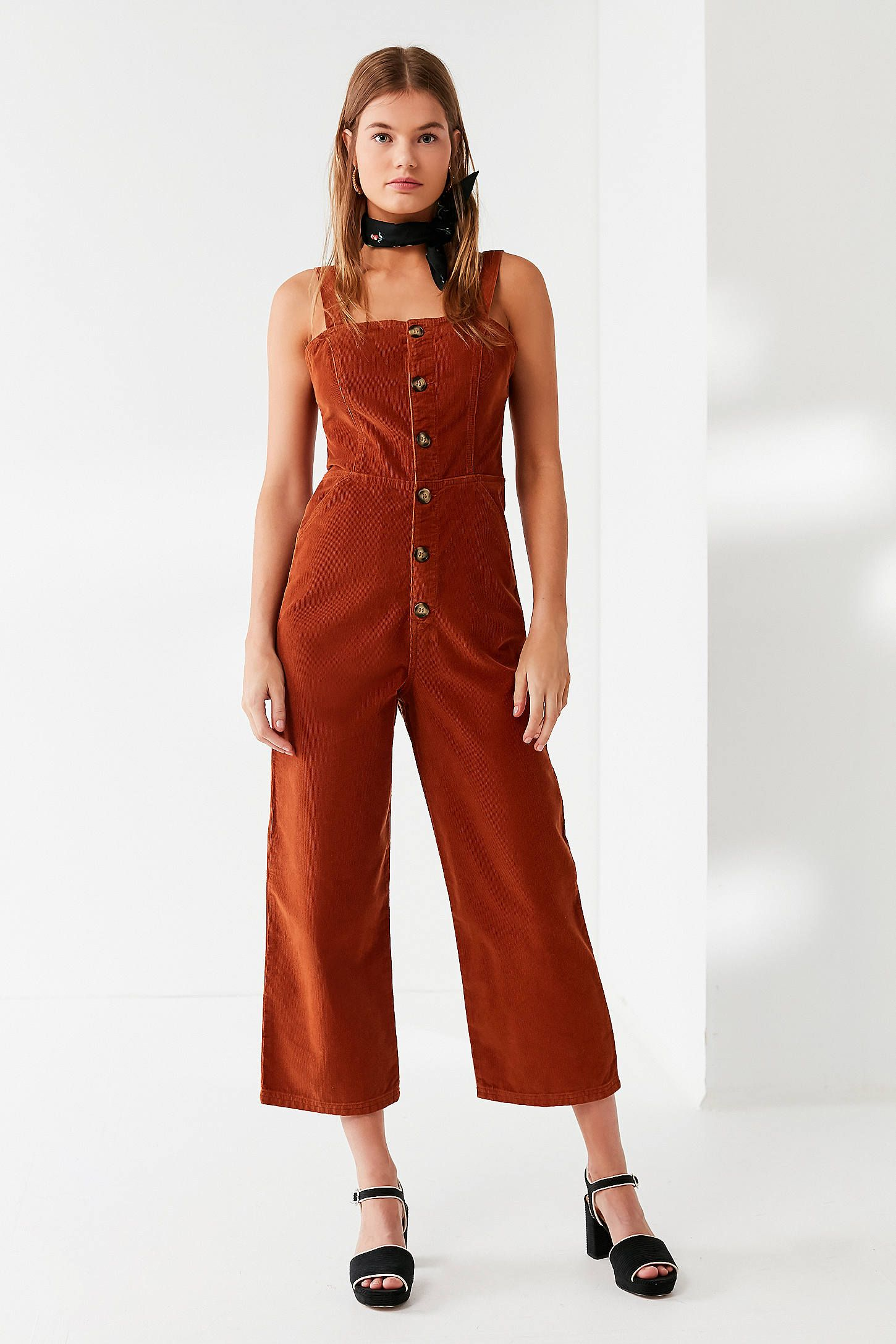Uo corduroy dungaree jumpsuit latest styles urban outfitters and