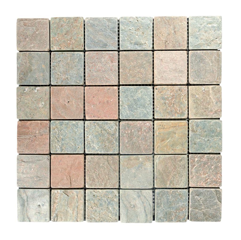 Tumbled Slate Copper Mosaic Topps Tiles Bathroom Ideas