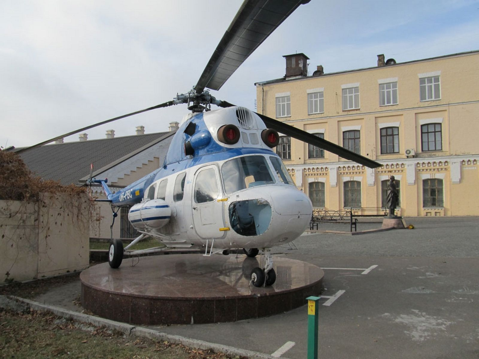 The Mil Mi-2 (NATO reporting name Hoplite) is a small, lightly armored turbine-powered transport helicopter  ‎