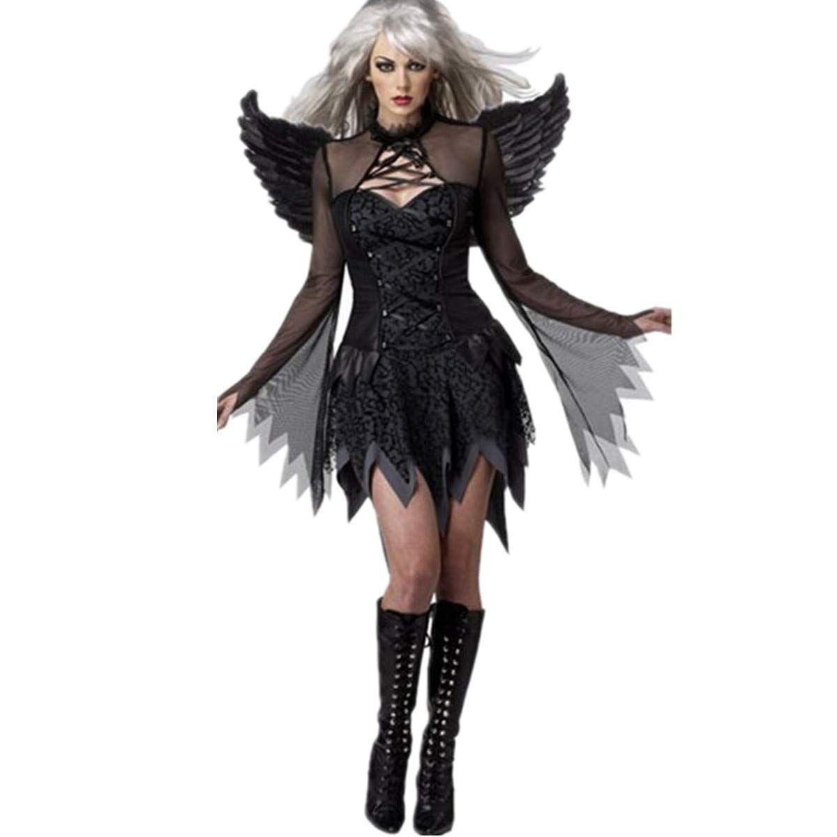 069c0a6dd2 Elegantes Kostüm für Damen zu Halloween Das Kostüm ist für Erwachsene und  sowohl in schwarz als