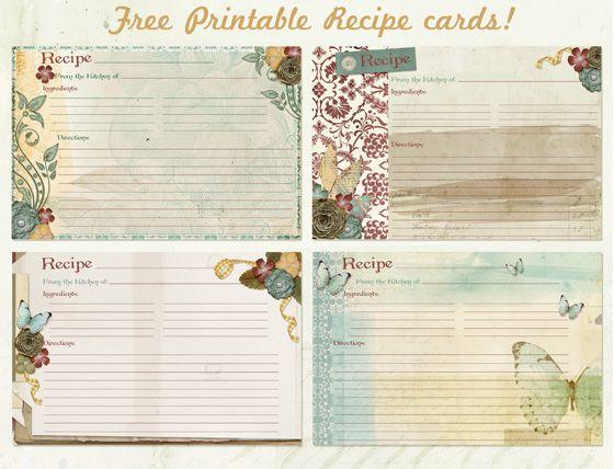 Free #recipe card #printables Super pretty Vegetarian Recipes - recipe card