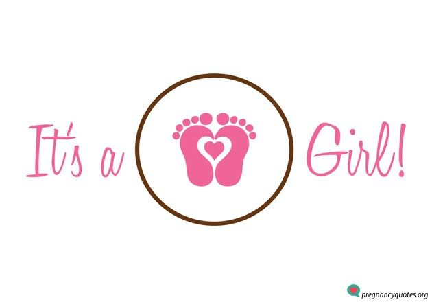 it s a girl announcement cool pic and graphic in pink gender