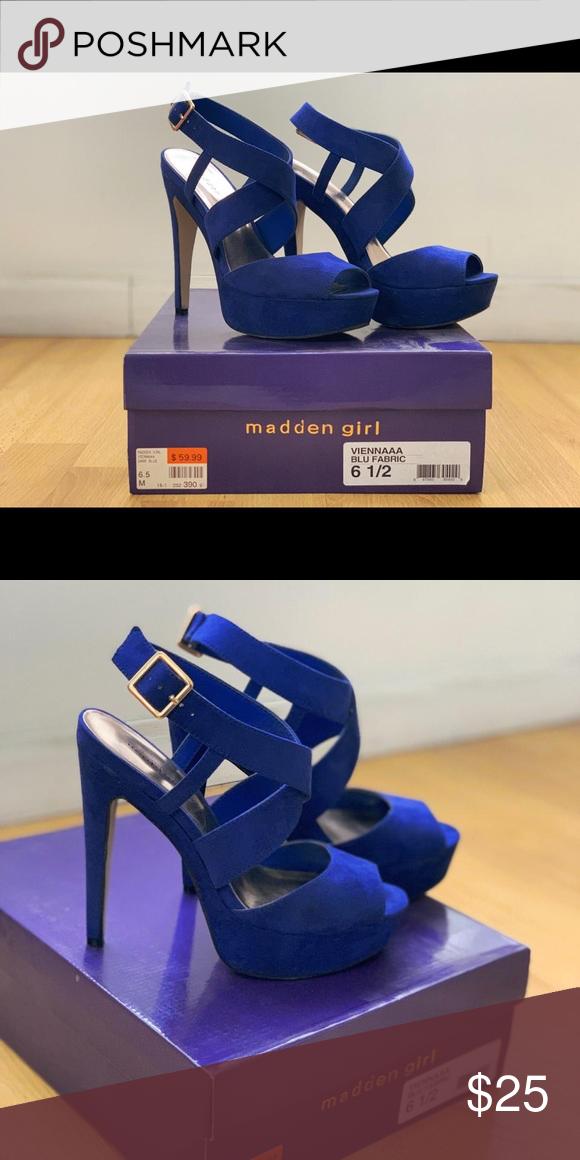 ef67934d2c0 Madden Girl Shoes   Madden Girl High Heels   Color: Blue   Size: 6.5 ...