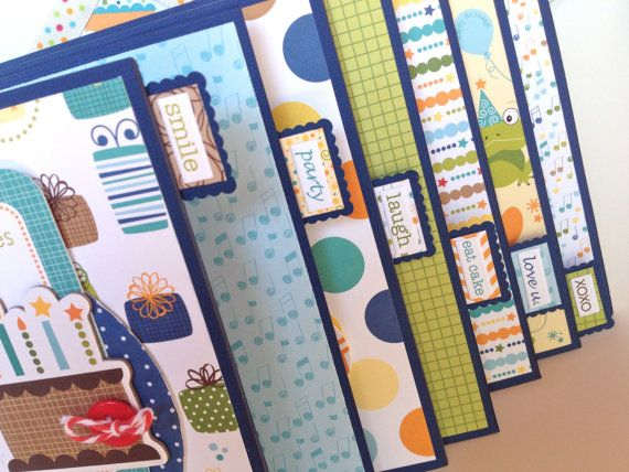Premade Birthday Boy Scrapbook Mini Album Birthday Boys Scrapbook