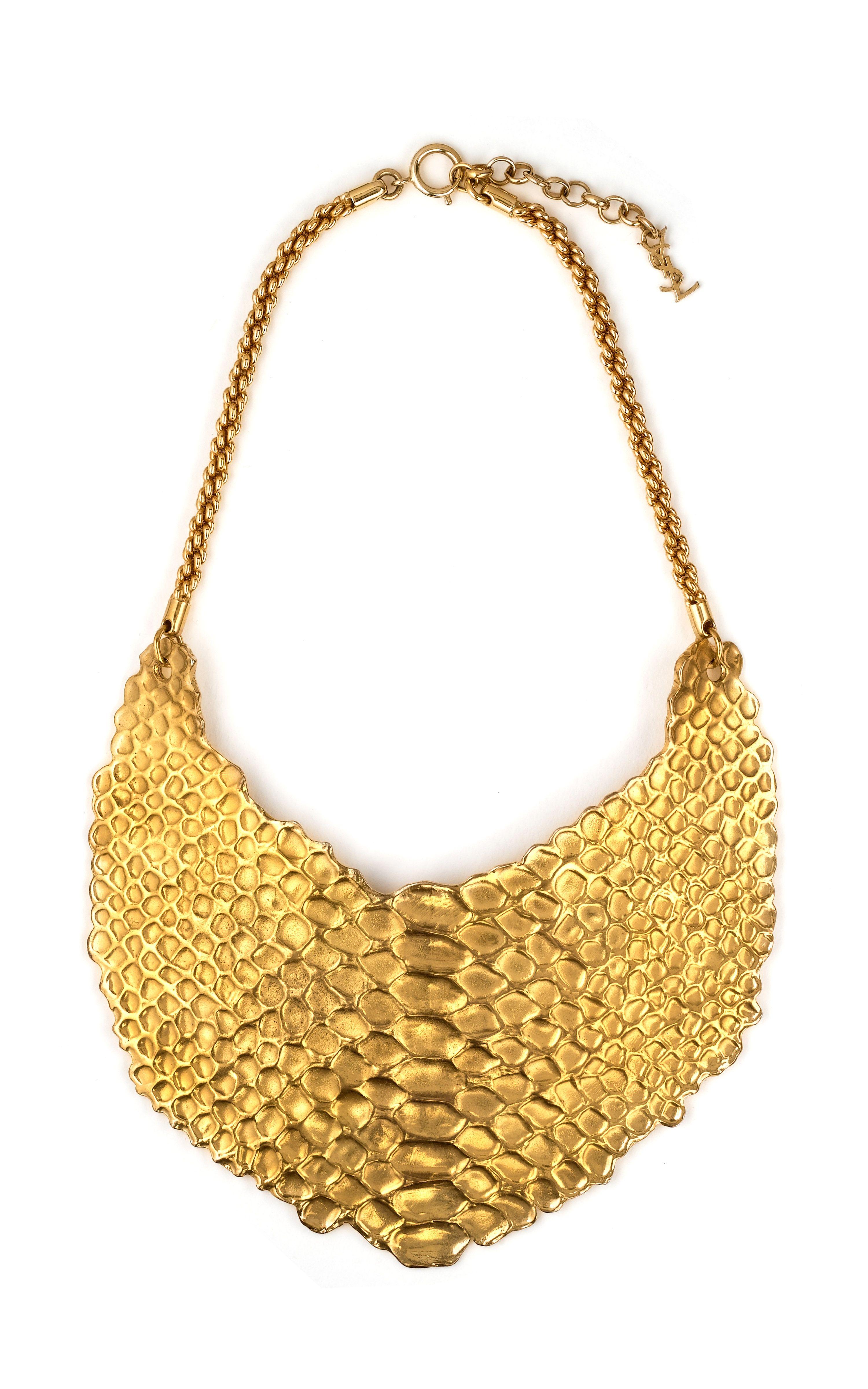 Ysl vintage reptile form bib necklace via moda operandi jewelry