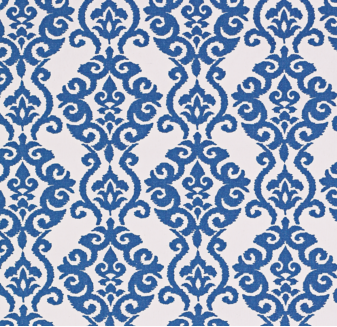 Diverse Damask fabric in Lapis from Smith + Noble