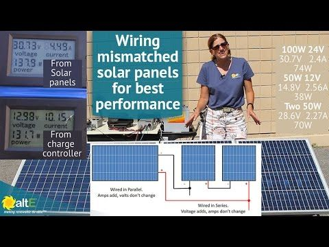How To Wire Mismatched Solar Panels In Series And Parallel Youtube Solar Panels Solar Panel Installation Solar