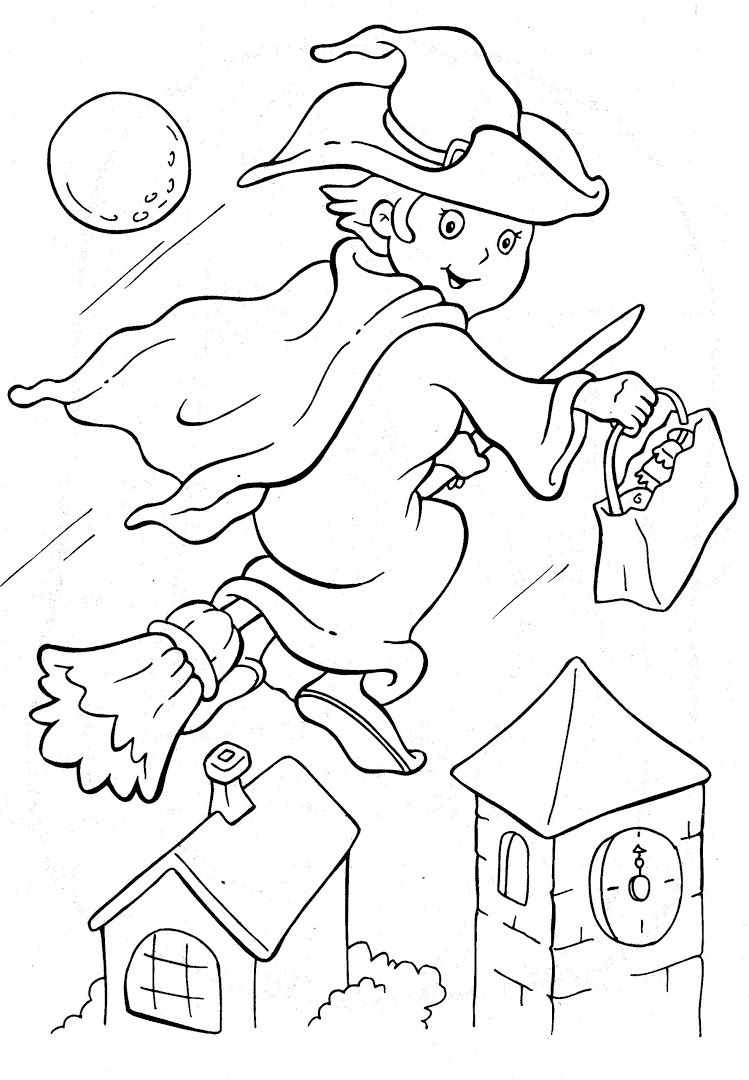 Kooky Critters | Halloween coloring pictures, Witch ...