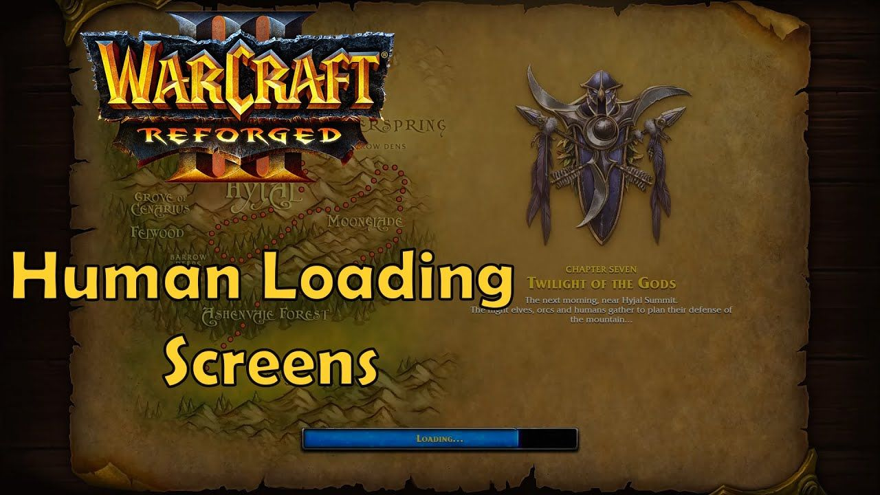Warcraft 3 Reforged Human Loading Screens Reign Of Chaos