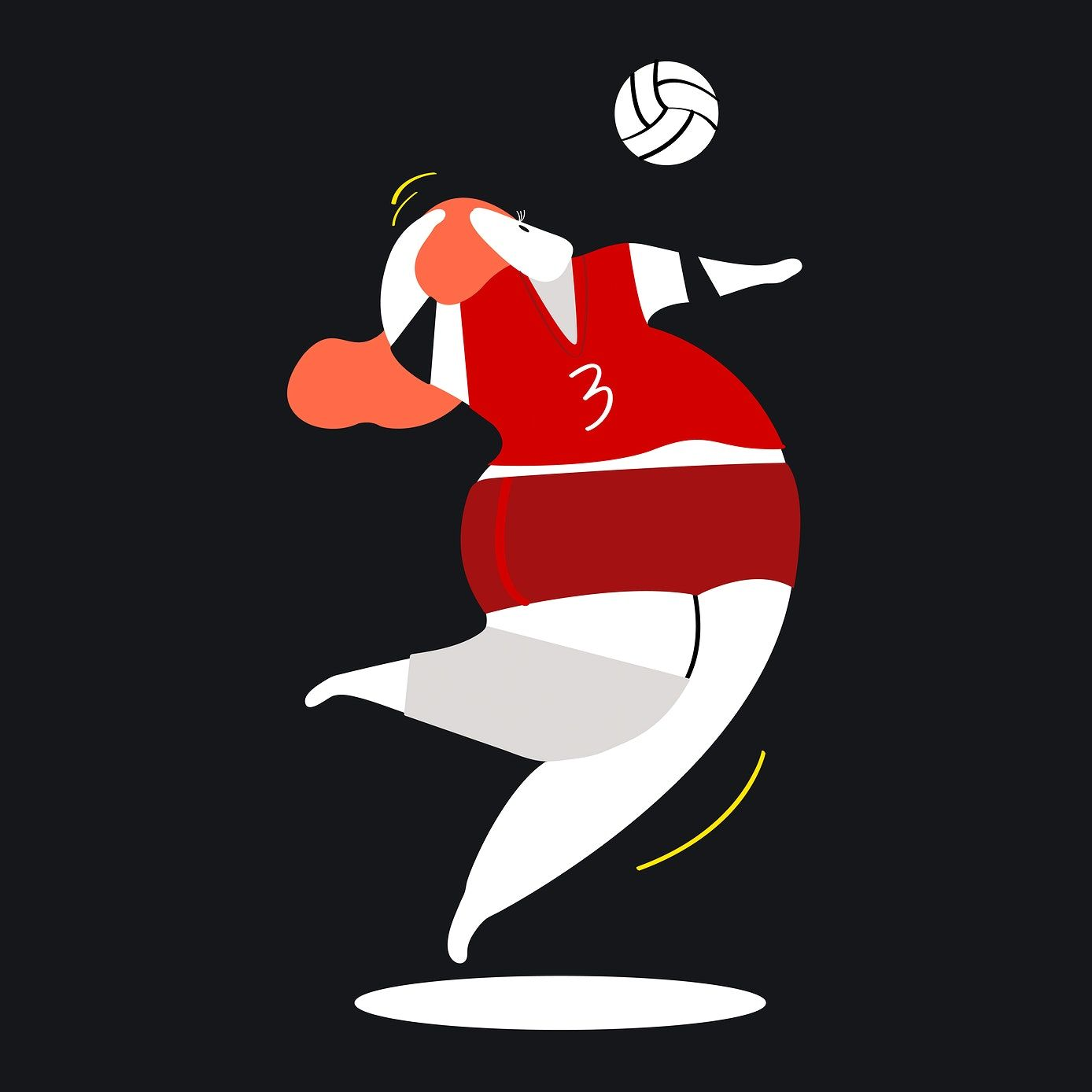 Character Illustration Of A Volleyball Player Free Image By Rawpixel Com