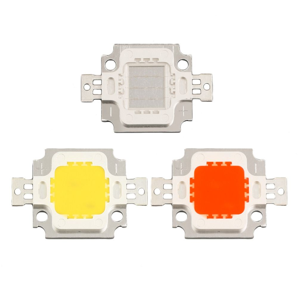2016 New Arrival Cob Led High Power 10w Led Chip Red Yellow Blue Led Bulb Lamp Light Chip Led Light Accessories Bulb Lamp Light