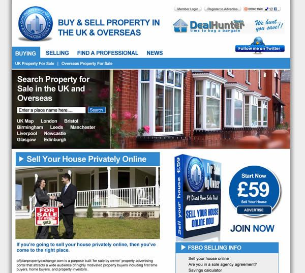 Website for a property company