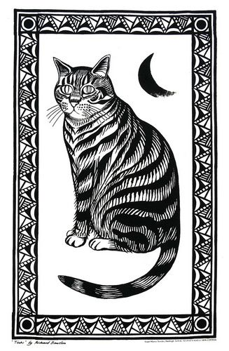 Cat Tea Towel--I would love to frame this for wall art!