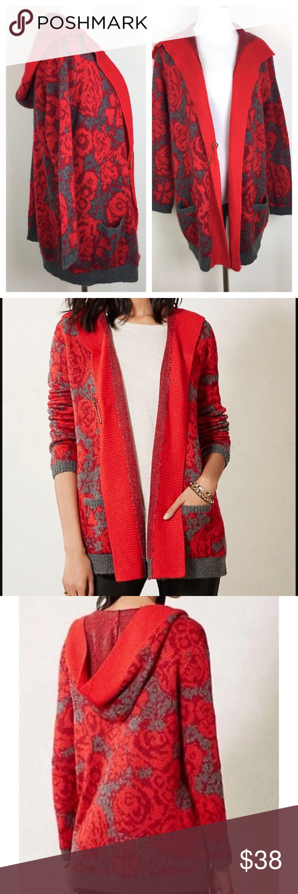 ANTHROPOLOGIE Sparrow Hooded Cardigan | Hooded cardigan ...